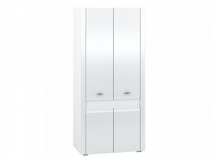 Arko 01 (Dulap pentru haine) White/White High Gloss
