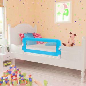Balustradă de pat protecție copii, 2 buc, albastru, 102 x 42 cm