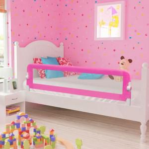 Balustradă de siguranță pentru pat de copil, roz, 150x42 cm