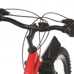 Bicicletă montană cu 21 viteze, roată 26 inci, 36 cm, roșu