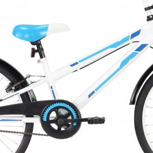 Bicicletă pentru copii, albastru și alb, 24 inci