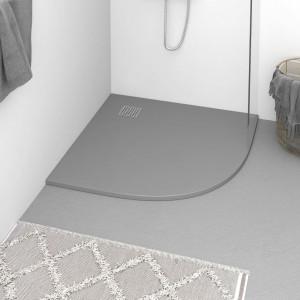 Cădiță de duș, gri, 90x90 cm, SMC