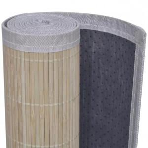 Carpetă dreptunghiulară din bambus natural, 80 x 300 cm