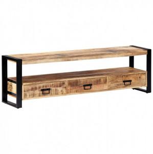 Comodă TV, 150x30x45 cm, lemn masiv de mango