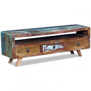 Comodă TV cu 3 sertare, lemn masiv reciclat