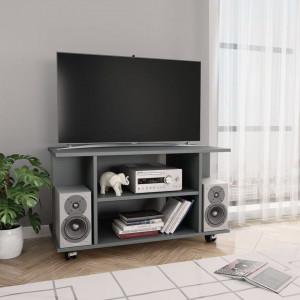 Comodă TV cu rotile, gri, 80 x 40 x 40 cm, PAL