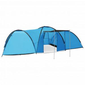 Cort camping tip iglu, 8 persoane, albastru, 650x240x190 cm