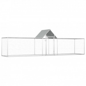 Coteț pentru păsări, 5 x 1 x 1,5 m, oțel galvanizat