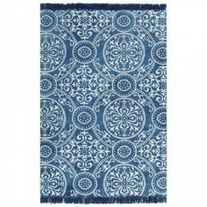 Covor Kilim, albastru, 120 x 180 cm, bumbac, cu model