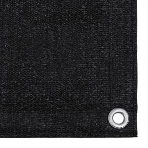 Covor pentru cort, negru, 300x400 cm