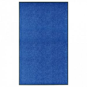 Covoraș de ușă lavabil albastru 90x150 cm
