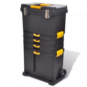 Cutie unelte portabilă cu roţi