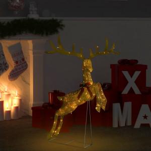 Decorațiune ren zburător de Crăciun 120 LED alb cald auriu