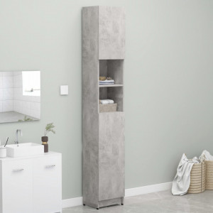 Dulap de baie, gri beton, 32 x 25,5 x 190 cm, PAL