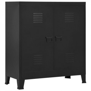 Fișet, negru, 90 x 40 x 100 cm, oțel, industrial