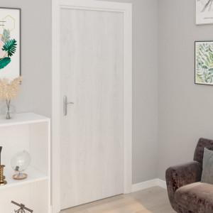 Folii de ușă autoadezive, 2 buc., lemn alb, 210 x 90 cm, PVC