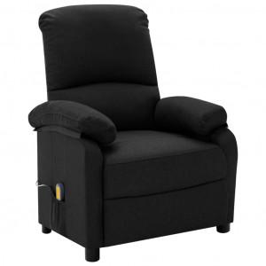 Fotoliu de masaj rabatabil, negru, material textil
