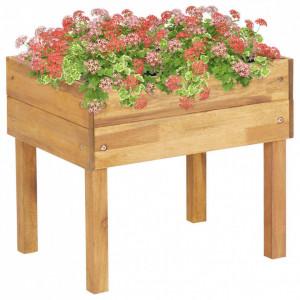 Jardinieră înaltă, 50 x 40 x 45 cm, lemn masiv de acacia