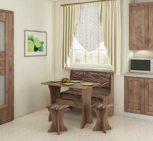 kitchen set with stools   SAFARI/CRAFT TOBACO