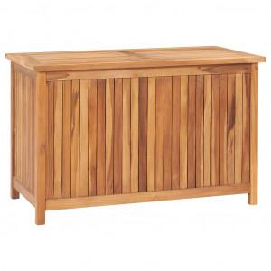Ladă de depozitare grădină, 90x50x58 cm, lemn masiv de tec