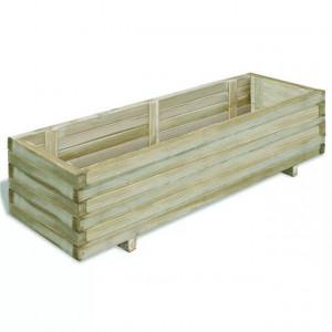 Ladă dreptunghiulară din lemn pentru răsaduri 120 x 40 x 30 cm