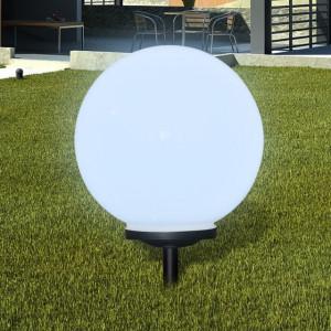 Lampă solară pentru exterior cu LED-uri + țăruș, 40 cm, 1 buc