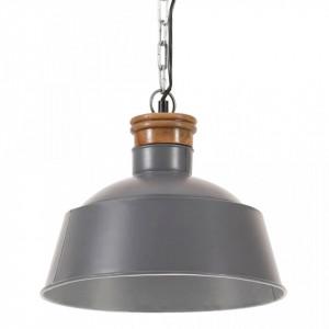 Lampă suspendată industrială, gri, 32 cm, E27