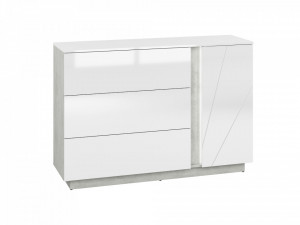 Lumens 07 comoda beton/white high gloss