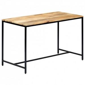Masă de bucătărie, 120x60x75 cm, lemn masiv de mango nefinisat