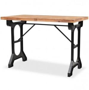 Masă de bucătărie, blat din lemn masiv de brad 122x65x82 cm