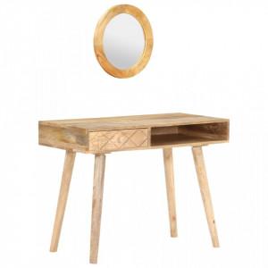 Masă de toaletă, 100 x 50 x 76 cm, lemn masiv de mango