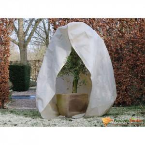 Nature Husă de iarnă din fleece cu fermoar, bej, 2 x 2,5 m, 70 g/m²