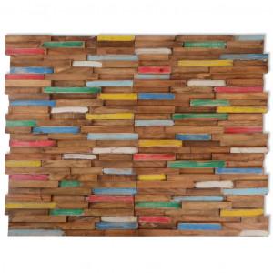 Panouri placare pereți, 10 buc., 1,03 m², lemn masiv de tec