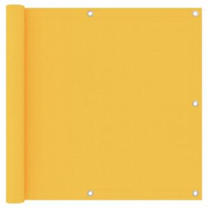 Paravan de balcon, galben, 90 x 500 cm, țesătură oxford