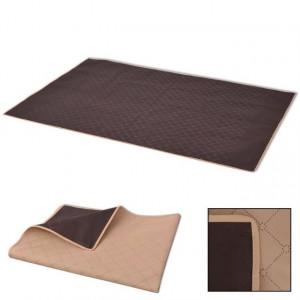 Pătură pentru picnic, bej și maro, 100 x 150 cm