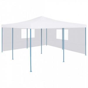 Pavilion pliabil cu 2 pereți laterali, alb, 5 x 5 m