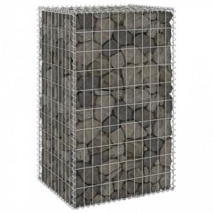 Perete gabion cu capace, 60 x 50 x 100 cm, oțel galvanizat