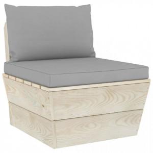 Perne pentru canapea din paleți, 2 buc., gri, material textil