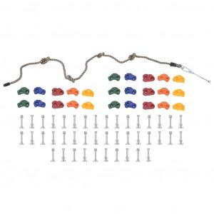 Pietre de cățărat cu funie, 25 buc., multicolor