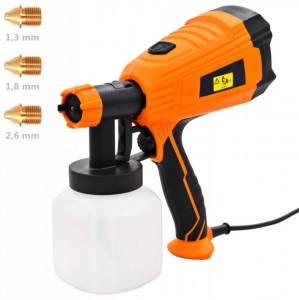Pistol electric de vopsit cu duze în 3 dimensiuni 500 W 800 ml