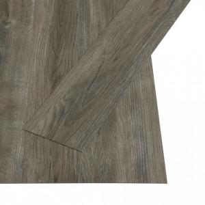Plăci autoadezive pardoseală gri & maro PVC 4,46 m² 3 mm