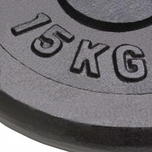Plăci de greutate, 2 buc., 2x15 kg, fontă