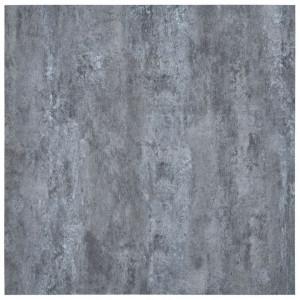Plăci de pardoseală autoadezive, gri marmură, 5,11 m², PVC