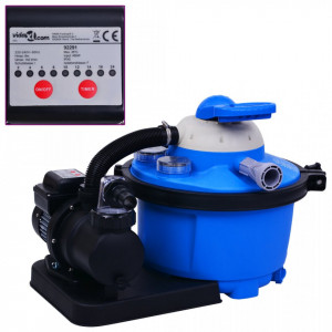 Pompă filtru cu nisip, cu temporizator, 450 W 25 L