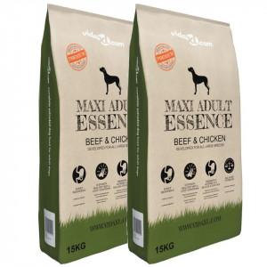 Premium Hrană câini uscată vită și pui, adulți, 2 buc., 30 kg