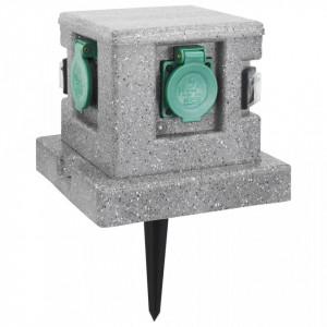 Priză de grădină cu senzor crepuscular, plastic