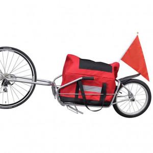Remorcă cargo de bicicletă cu o roată și geantă de depozitare