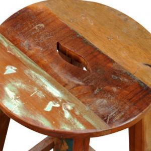 Scaun de bar din lemn masiv reciclat