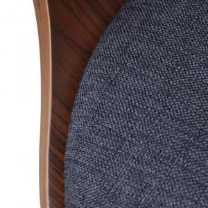 Scaun de bucătărie 2 buc cu tapiserie din material textil