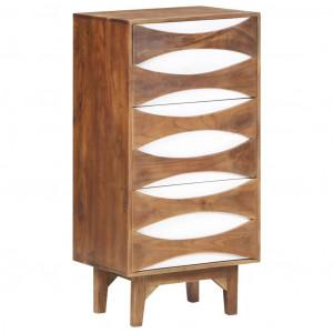 Scrin cu sertare, 44 x 35 x 90 cm, lemn masiv de acacia